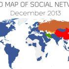 Світова карта соціальних мереж – Україна залишається в зоні впливу ВКонтакте