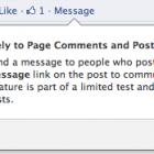 Facebook тестує приватні повідомлення між сторінками і людьми