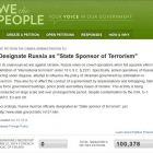 Петиція на сайті Білого Дому про визнання Росії спонсором тероризму назбирала понад 100 тис підписів