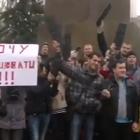 Українські програмісти вийшли на акцію протесту і закидали місцеву владу клавіатурами та мишками