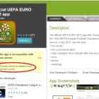 Офіційний додаток EURO-2012 не працює в Україні