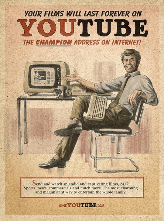 Реклама Facebook, Twitter, Skype i Youtube родом з 60 х