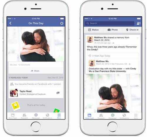 Facebook запустив сторінку Цього дня з нагадуваннями про минулі події