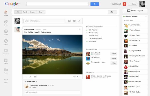 Google+ запустив новий дизайн