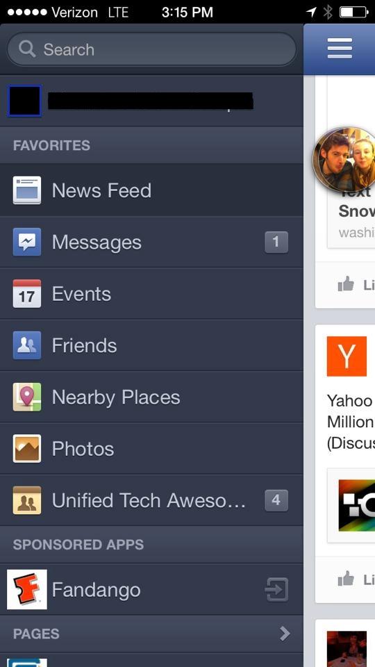 Facebook тестує рекламу в панелі закладок мобільних додатків