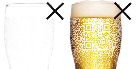 QR код на бокалі Guinness читабельний тільки коли він повний
