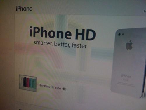 Новий iPhone отримає назву iPhone HD?