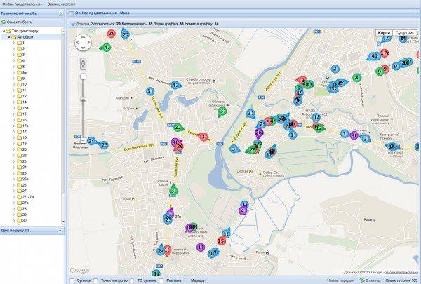 В Луцьку запустили real time карту громадського транспорту