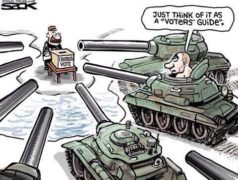 Протистояння в Криму: підбірка фотожаб та картинок