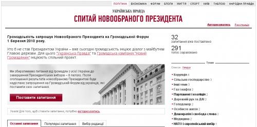 Українська Правда збирає питання для нового Президента