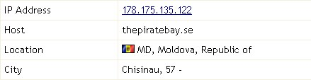 The Pirate Bay переїхав до Молдови
