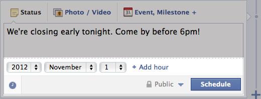Facebook запустив відкладену публікацію записів