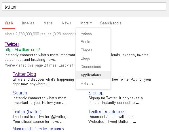 Google запустив пошук за мобільними додатками