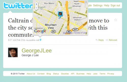 Twitter увімкнув геолокацію