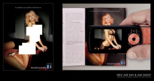 Реклама Axe + мобільні технології