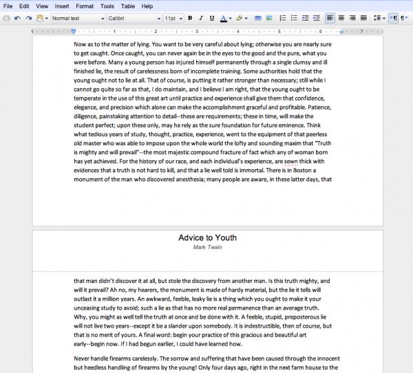 В Google Docs зявилася розбивка на сторінки та вбудований друк