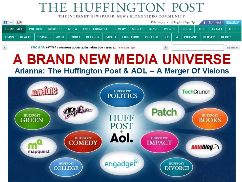 AOL придбала Huffington Post за $315 млн.