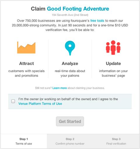 Foursquare стягуватиме з власників закладів по $10 за верифікацію точок