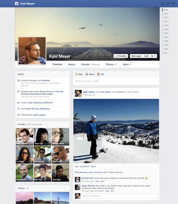 Facebook офіційно запускає Timeline із публікаціями в одну колонку