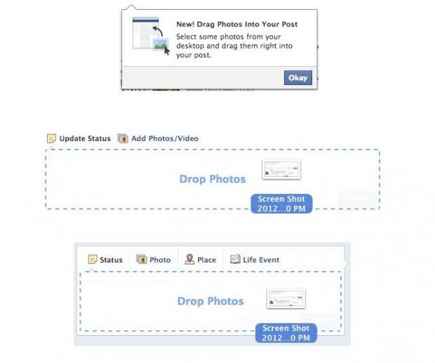 В Facebook зявилася функція перетягування фотографій