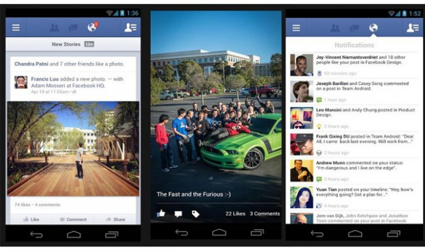 Facebook представила новий Android клієнт