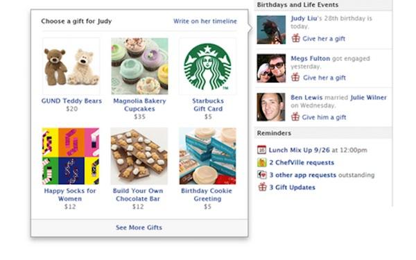 Facebook знову запускає Gifts (подарунки)
