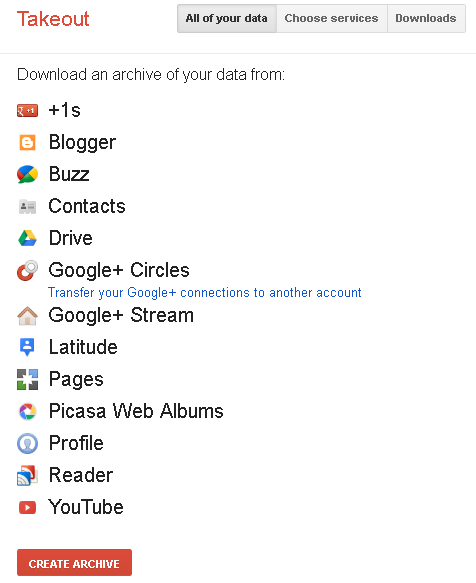 Як експортувати усі дані з Blogger та Google+
