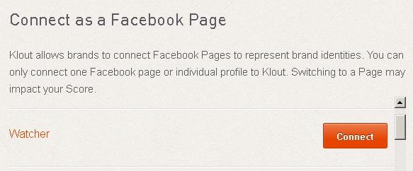 Klout тепер підтримує Facebook сторінки