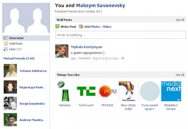 Facebook оновлює сторінки дружби (friendship pages)