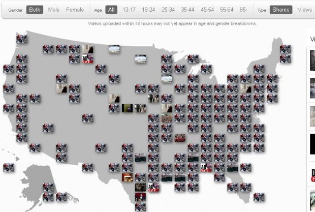 YouTube запустив Trends Map   візуалізацію найпопулярніших відео на мапі
