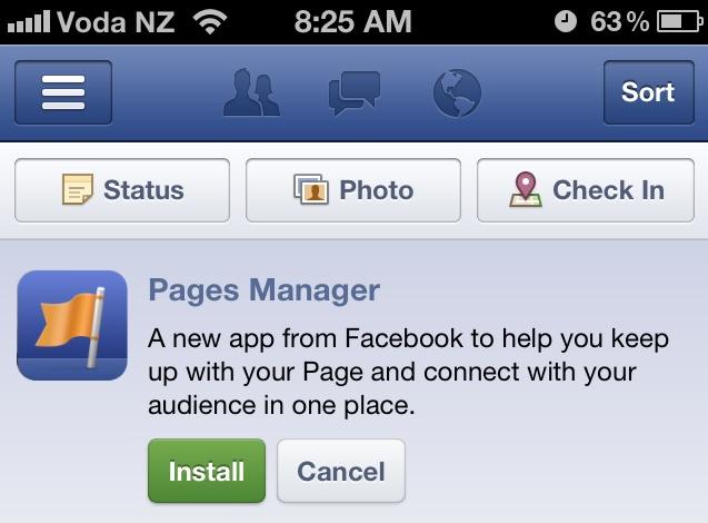Facebook запускає мобільний додаток для управління корпоративними сторінками