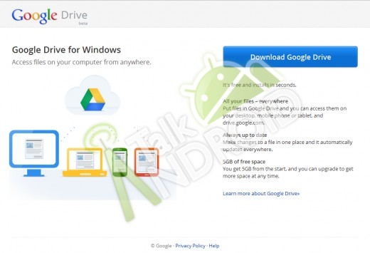 Google Drive подарує користувачам 5 Гб дискового простору