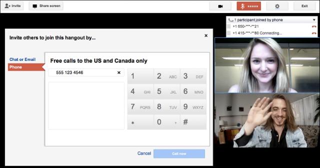 Google запустив безкоштовні дзвінки через Google+ Hangouts