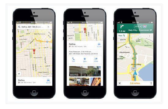 Google представила додаток Google Maps для iOS