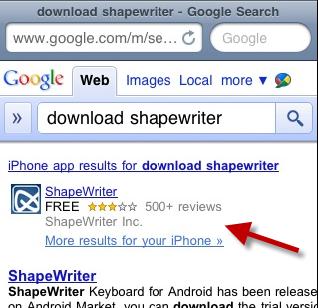 Google показує власникам смартфонів лінки на скачування додатків