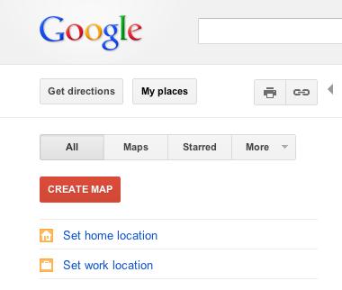 Google дозволить зберегти вашу робочу та домашню адреси на карті