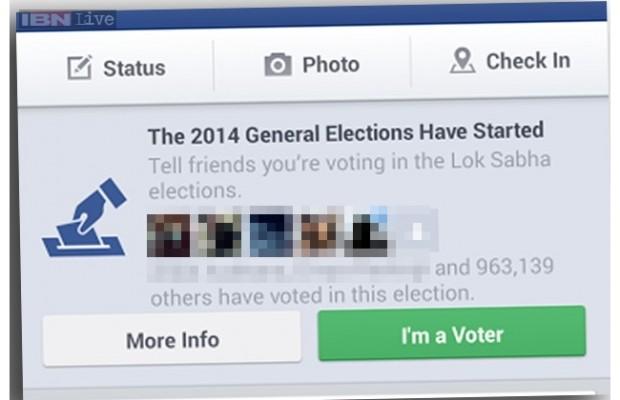 Facebook під вибори запускає кнопку «I'm A Voter»