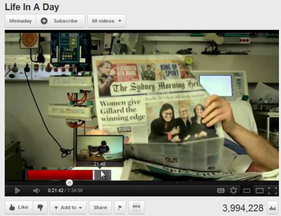 YouTube запускає попередній перегляд відео