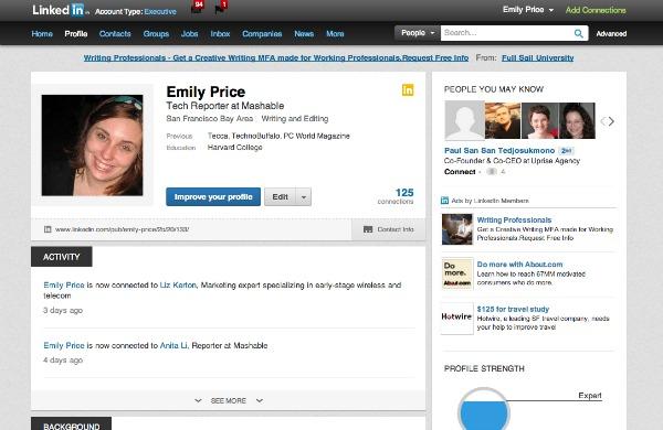 Соціальна мережа LinkedIn оновлює дизайн профайлів