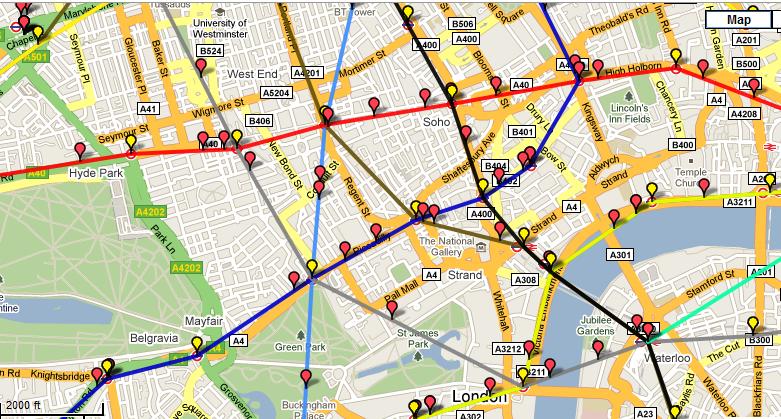 Потяги лондонського метро на карті в режимі реального часу