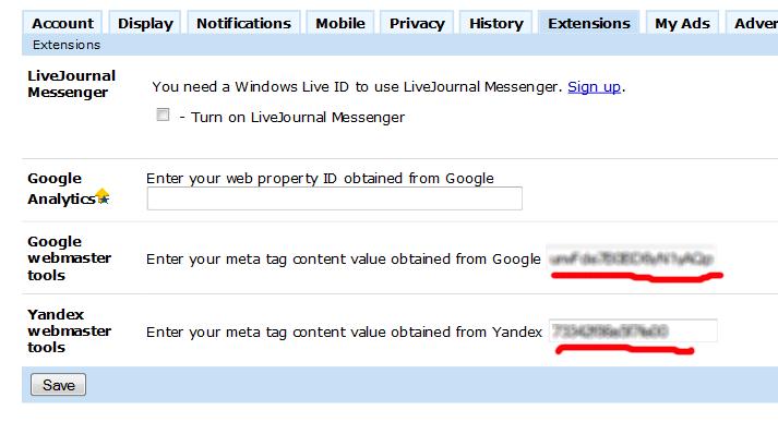Livejournal подружився з Google