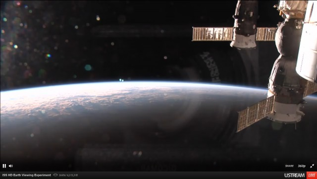 NASA запустило live трансляцію відео з космосу