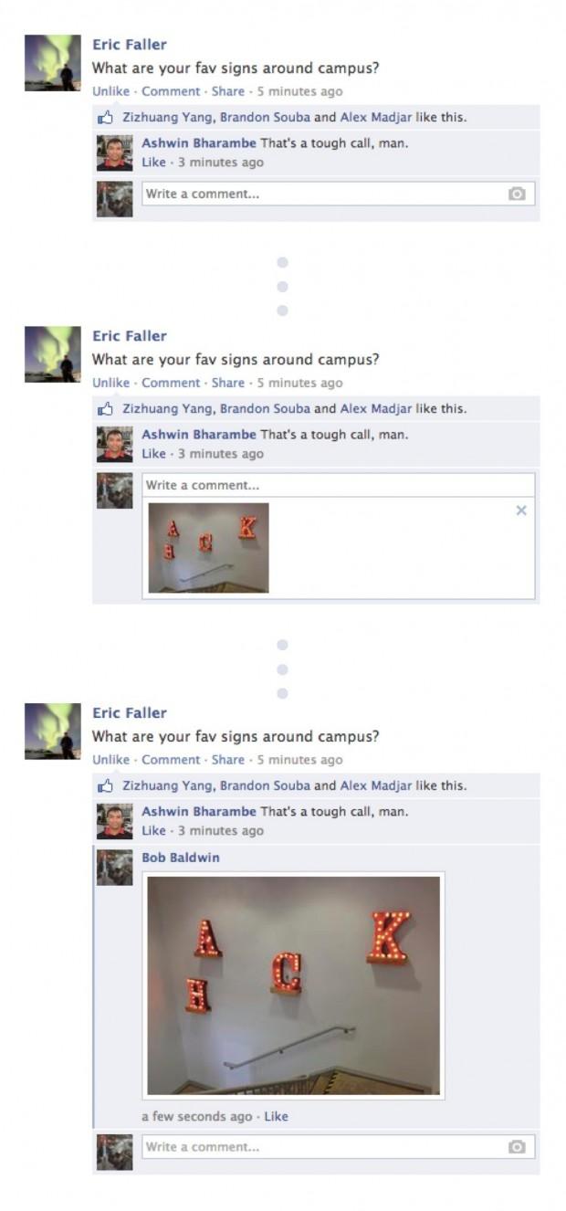 Facebook дозволив фото у коментарях
