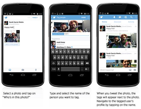 Twitter дозволив додавати по кілька людей в один твіт і позначати людей на фотографіях