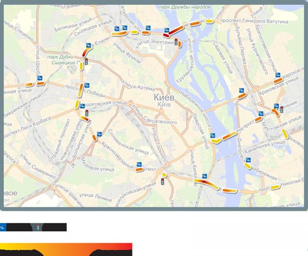 Яндекс виявив найбільш аварійні дороги Києва
