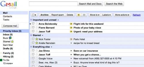 Gmail сортуватиме пошту за пріоритетом для користувачів