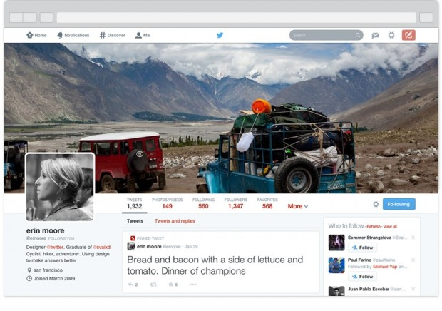 Новий дизайн Твітера став доступним для всіх користувачів