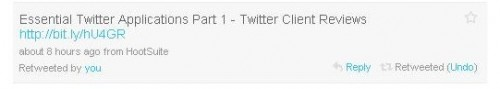 Twitter додав функцію ReTweet