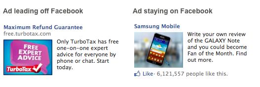 Реклама сторінок і додатків на Facebook коштує вдвічі дешевше, ніж реклама зовнішніх сайтів