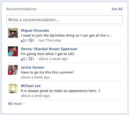 Facebook додає рекомендації до Timeline сторінок
